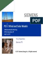 PSSE Wind Solar Models Kazachkov