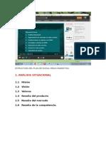 Estructura Del Plan de Social Media Marketing