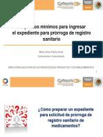 13 Requisitos Minimos Prorroga de Registro sanitario de medicamentos en Mexico