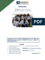 Informe Final Proyeccion Social- Diamante Azul