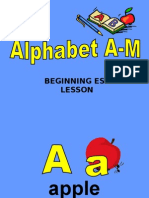 Alphabet Lesson 1