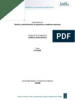 1. La AuditorIa Administrativa y Su Proceso de Ejecucion