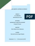Asignacion a Cargo Del Docente Admon Act