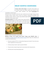 Cara Membuat Kompos Sederhana