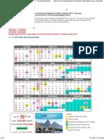 Malaysia Public & School Holidays 2015