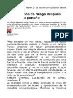Macri en Zona de Riesgo Después Del Balotaje Porteño