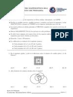 Canguro Matematico Examen 6to primaria