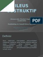 130514503 PPT Ileus Obstruksi