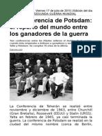 La Conferencia de Potsdam, El Reparto Del Mundo Entre Los Ganadores de La Guerra
