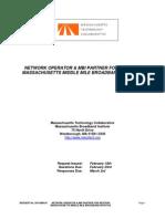 Mass Broadband Institute Network Operator Partner RFI 02-18-2010