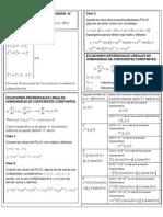 Formulario de Ecuaciones Difrenciales de Orden Superior