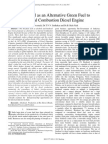 Bio Diesel as an Alternative Green Fuel to Internal Combustion Diesel Engine