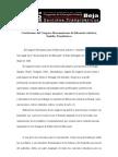 Conclusiones del Congreso Iberoamericano de Educación Artística; Sentidos Transibéricos