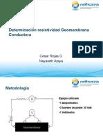 Determinación Resistividad Geomembrana Conductora