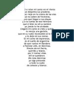 Cancion a Malvinas Letra