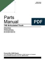 Cat 740 parts manual