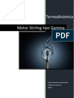 Motor Stirling tipo Gamma