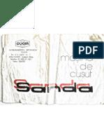 Manual pentru masina de cusut Sanda fabricata de Cugir