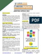 Marketing Capsule 2015