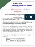 MF0010–Security Analysis and Portfolio Management