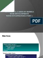 Successful Cases of Mobile Web Development
