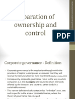 Lecture 1 - Separation of Ownership and Control