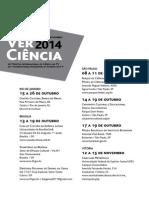 Catálogo Da Mostra VerCiência 2014