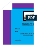 Activos Disponibles - Arqueo de Caja Thiago s.a.c