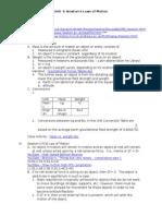 Unit 4 Lesson Plans - Newtons Laws of Motion