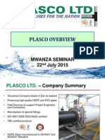 2. Plasco Overview by Plasco Ltd - Mwanza Presentations