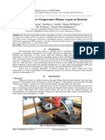 Influence of Low-Temperature Plasma Argon on Bacteria