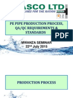 3. PE Pipe Production Process & QA-QC Requirements & Standards