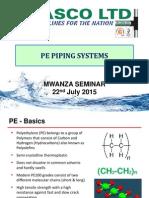 4. PE Piping Systems by Plasco Ltd - Mwanza Presentations