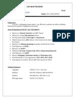 Sumit ABAP Fresher