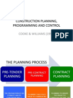 Construction Planning and Programming