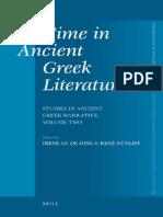 137146743 BRILL STUDIES Time Ancient Greek Literature