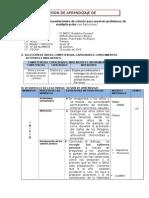 SESION DE APRENDIZAJE SOBRE PROBLEMA DE MULTIPLIACION DE FRACCIONES.docx