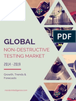 Global Non Destructive Testing Market Equipment and Services Industry Analysis and Market Forecast 2014-2019