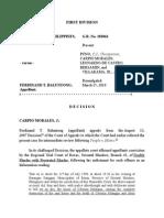 PP vs. Baluntong Objective of Arson