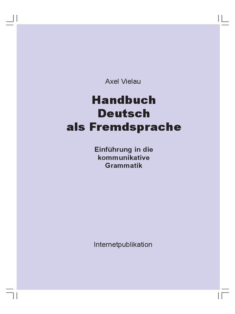 Handbuch Deutsch als Fremdsprache