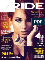 Alicia Keys. Pride Magazine. December 2012
