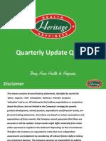 Quarterly Update [Company Update]