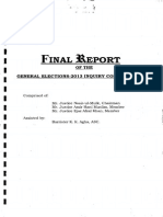 Inquiry Commission 2015, Final Report of the General Elections 2013