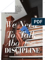 We Need To Talk About Discipline. Pride Magazine. November 2014
