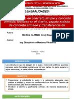 Cimentaciones Corridas y zapatas - DIAPOSITIVAS