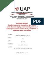 Cimentaciones Corridas y zapatas - PDF