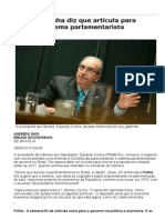 Eduardo Cunha Diz Que Articula Para Aprovar Sistema Parlamentarista - 29:06:2015 - Poder - Folha de S.paulo
