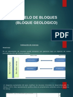 Modelo de Bloques Bloque Geologico