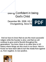 Being Confident in Being God's Child