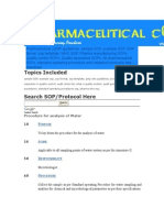 Pharmaceutical CGMP Guidelines Water Testing